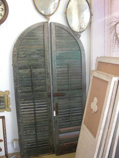 we love vintage salvage for decorating