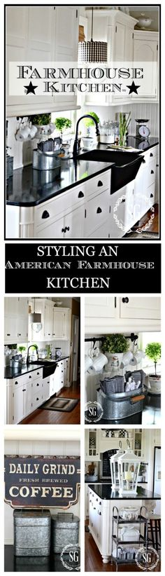 STYLING AN AMERICAN FARMHOUSE KITCHE  Easy farmhouse elements to add to any kitchen