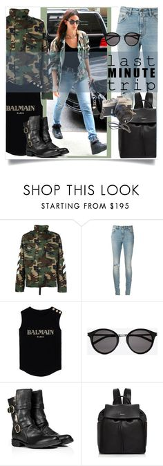 """""""Camouflage clothes"""" by goreti ❤ liked on Polyvore featuring MSGM, Yves Saint Laurent, Balmain, Fiorentini + Baker, DKNY and lastminutetrip"""