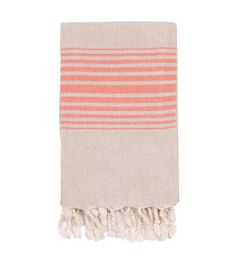 Linen Hand Towel with Tassels