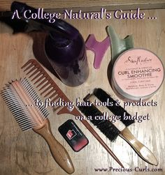 some tips on finding hair care tools and hair products on a small college budget.