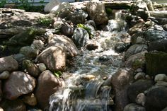 Pondless waterfall installed by Gem Ponds Oak Park,IL