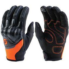 ILM ATV BMX MX MTB Riding Cycling Dirt Bike Full Finger Gloves Touchscreen Motorcycle Motocross Sports Men Women Green, L