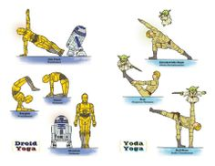 Yoga poses done by Star Wars characters