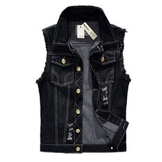 Pelle Pelle Cream Camo Denim Vest 2XL >>> Want additional info? Click on the image.