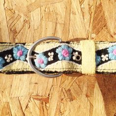 Hand Embroidered Wool Belt by KaniArts on Etsy, $36.00