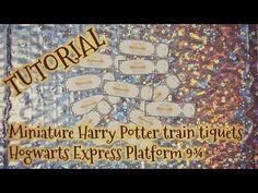 Tutoriel : tiquets de train miniatures Harry Potter Hogwarts Express Pla... Miniatures Harry Potter, Hogwarts, Doll Tutorial, Doll Houses, Lps, Pet Shop, Favorite Things, Barbie, Youtube
