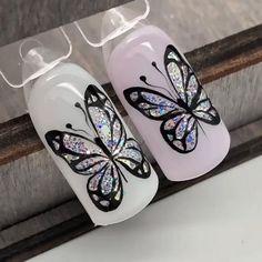 nails, art nail design, маникюр Gel Nail Art Designs, Nail Art Designs Videos, Nail Art Videos, Short Nail Designs, Nail Art Blog, Nail Art Hacks, Nail Art Diy, New Nail Art, Nail Art Fleur