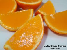 Gelatina de zumo de naranja Brunch, Orange, Fruit, Cooking, Natural, David, Food, Mousse, Bridal