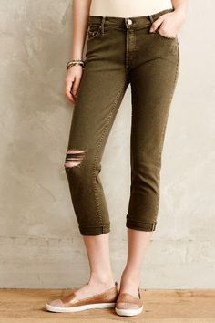 Mother Dropout Cropped Jeans - anthropologie.com