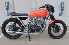 1978 Kawasaki Z400. Mix between a flat tracker and a Cafe Racer...