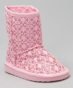 Look at this Chatties Light Pink Glitter Lace Boot on today! Rose Brillant, Nina Shoes, Kids Boots, Pink Glitter, Girly Girl, Girly Things, Ugg Boots, Plus Size Outfits, Uggs