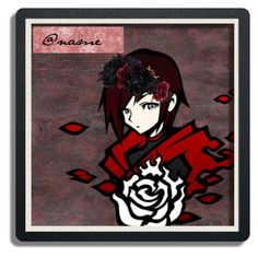 """Open Ruby Rose Icon (Please comment if you'd like it!)"" by chibi-shinigami ❤ liked on Polyvore featuring art, icon, RWBY and rubyrose"
