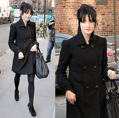 Ashlee Simpson with black hair. I can dig it.