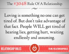 The #3048 Rule of a Relationship