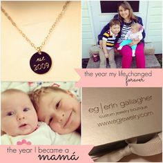 Commemorate the year you entered #motherhood with a Mom, Inc. @Erin Gallagher engraved necklace via @Very Busy Mamá {life, beauty & style} #verybusystyle