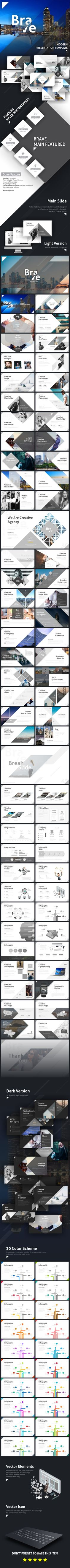 Brave Modern #Presentation Template - #Business #PowerPoint Templates Download here: https://graphicriver.net/item/brave-modern-presentation-template/19616973?ref=alena994