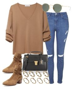 """Sin título #1812"" by alx97 ❤ liked on Polyvore featuring Topshop, J.W. Anderson, Yves Saint Laurent, ALDO and Ray-Ban"