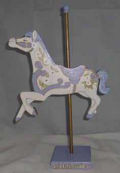 Mary Poppins Carousel Horse Decor, Hand Cut, Sanded, and Painted