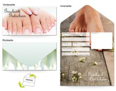 Motiv Fußpflege - Gutscheinvorlagen