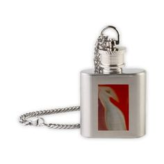 White bird Flask Necklace$19.50