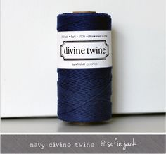 Navy Solid Divine Twine 20 yards by sofiejack on Etsy