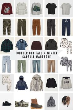 Okay so I'm not claiming the idea of capsule wardrobes but I do have my own twist on them. Some of the capsule wardrobes I've seen for kids just isn't practical for our lifestyle. Toddler Boy Fashion, Little Boy Fashion, Toddler Girl Outfits, Baby Girl Dresses, Toddler Boys, Kids Outfits, Kids Fashion, Cute Fall Outfits, Fall Fashion Outfits