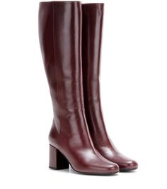 mytheresa.com - Babies 70 leather knee-high boots - Luxury Fashion for Women / Designer clothing, shoes, bags