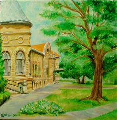 kajdacsi iskola...vászon--40x40 cm...akril