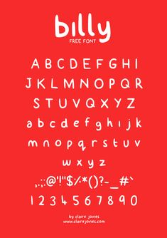 billy typeface (free) on Behance