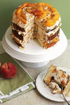 Peach Cobbler Shortcake Cake #shortcake #cake #peach #peachcobbler #cobbler #celebration #holiday #pie
