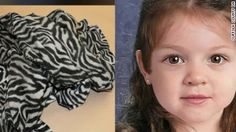 """The composite photo of """"Bella,"""" whosetiny remains were found June 25 wrapped in a black trash bag, wearing polka dot pants lying next to a zebra blanket."""