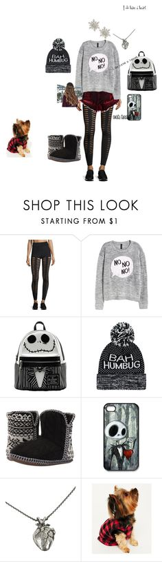 """""""Anti Christmas love- contest"""" by messed-up-soul ❤ liked on Polyvore featuring Cushnie Et Ochs, H&M, Foamtreads, Disney, Pamela Love, Karen Neuburger and Design Lab"""