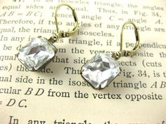 Adelaide - Vintage Swarovski Crystal Earrings