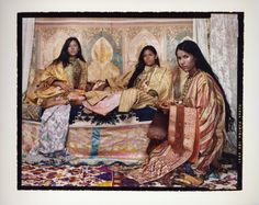 Lalla Essaydi, Harem Revisited Courtesy of Laurence King. French West Africa, Moroccan Caftan, A Level Art, Artwork Images, Small Canvas, Female Photographers, Second World, North Africa, Contemporary Artists