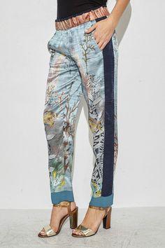Onda Printed Silk Pant by Giada Forte   shopheist.com