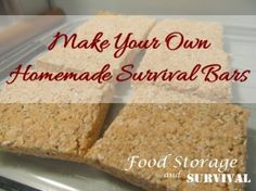 Make Your Own Homemade Survival Bars! Easy and perfect for emergency kits! - Food Storage and Survival Emergency Preparation, Emergency Food, Survival Food, Survival Prepping, Emergency Preparedness, Emergency Kits, Survival Skills, Wilderness Survival, Survival Island