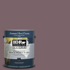 BEHR Premium Plus Ultra 1-gal. #100F-6 Plum Shade Satin Enamel Interior Paint-775301 - The Home Depot