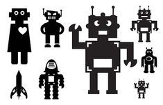 FREE SVG KLDezign robots and rockets SVG