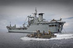 An Australian Army Lighter Amphibious Resupply Cargo craft departs from HMAS Tobruk off the coast of Vanimo, Papua New Guinea.