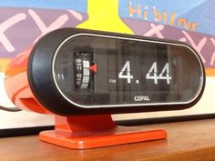 VINTAGE Retro COLLECTABLE Space Age Design EXTREMELY RARE Copal Flip Clock Japan