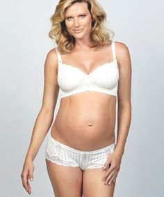 Take a look at this White Meringue Maternity Boyshorts by Cake Lingerie on #zulily today!