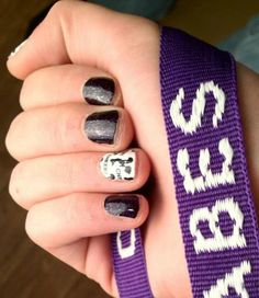 sparkle cheer nails