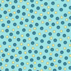 Whoo me Punkte blau gelb Patchwork Henry Glass von Stoff-Kotten auf DaWanda.com