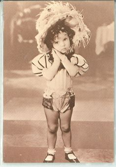 Shirley Temple in Baby Burlesk, 1930s  Fact: Shirley's mother created all of her costumes in this series (from the waist up).