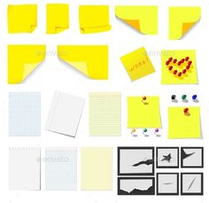Office Sticky Notes and Paper