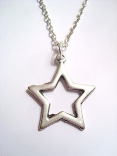 Silver Plated Thin Star