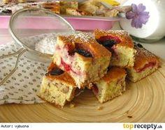 Cuketový koláč so slivkami French Toast, Breakfast, Food, Morning Coffee, Essen, Meals, Yemek, Eten