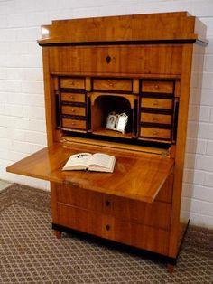 schreibsekretar biedermeier kirsche handpoliert 1830