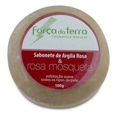 Sabonete de Argila Rosa e Rosa Mosqueta